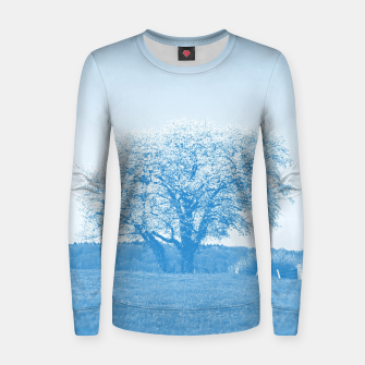 Thumbnail image of the lonely tree wb Women sweater, Live Heroes
