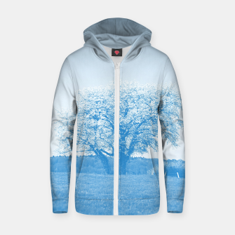 Thumbnail image of the lonely tree wb Zip up hoodie, Live Heroes