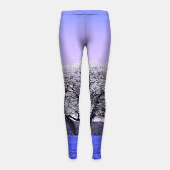 Thumbnail image of the lonely tree db Girl's leggings, Live Heroes