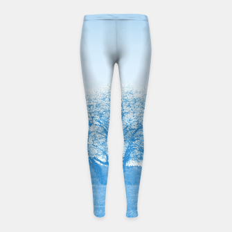 Thumbnail image of the lonely tree wb Girl's leggings, Live Heroes