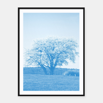 Thumbnail image of the lonely tree wb Framed poster, Live Heroes