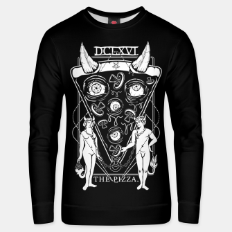 Thumbnail image of Pizza Demon Tarot Card Unisex sweater, Live Heroes
