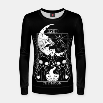 Thumbnail image of The Moon Tarot Card Women sweater, Live Heroes