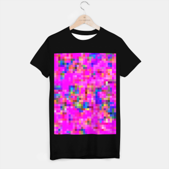 Miniature de image de geometric square pixel pattern abstract background in pink blue yellow T-shirt regular, Live Heroes