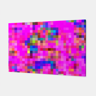 Miniature de image de geometric square pixel pattern abstract background in pink blue yellow Canvas, Live Heroes