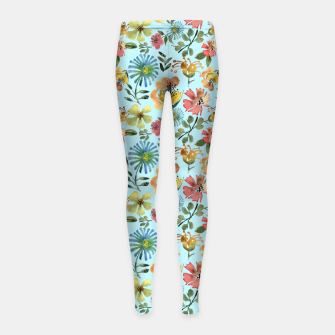 Thumbnail image of Miss Morocco Pale blue Girl's leggings, Live Heroes