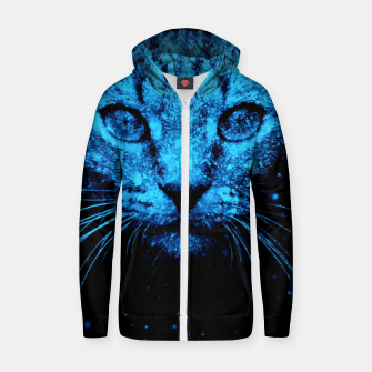 Snow Cat Zip up hoodie thumbnail image