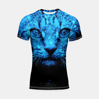 Thumbnail image of Snow Cat Shortsleeve rashguard, Live Heroes