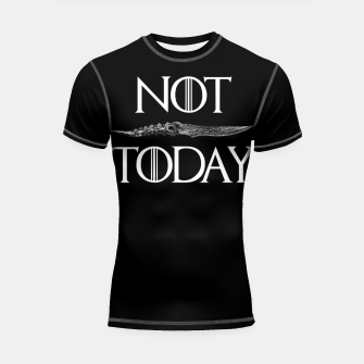 Thumbnail image of Not Today Shortsleeve rashguard, Live Heroes
