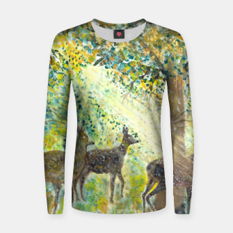 Thumbnail image of Adorable deers Women sweater, Live Heroes