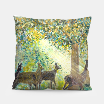 Thumbnail image of Adorable deers Pillow, Live Heroes