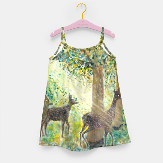 Thumbnail image of Adorable deers Girl's dress, Live Heroes