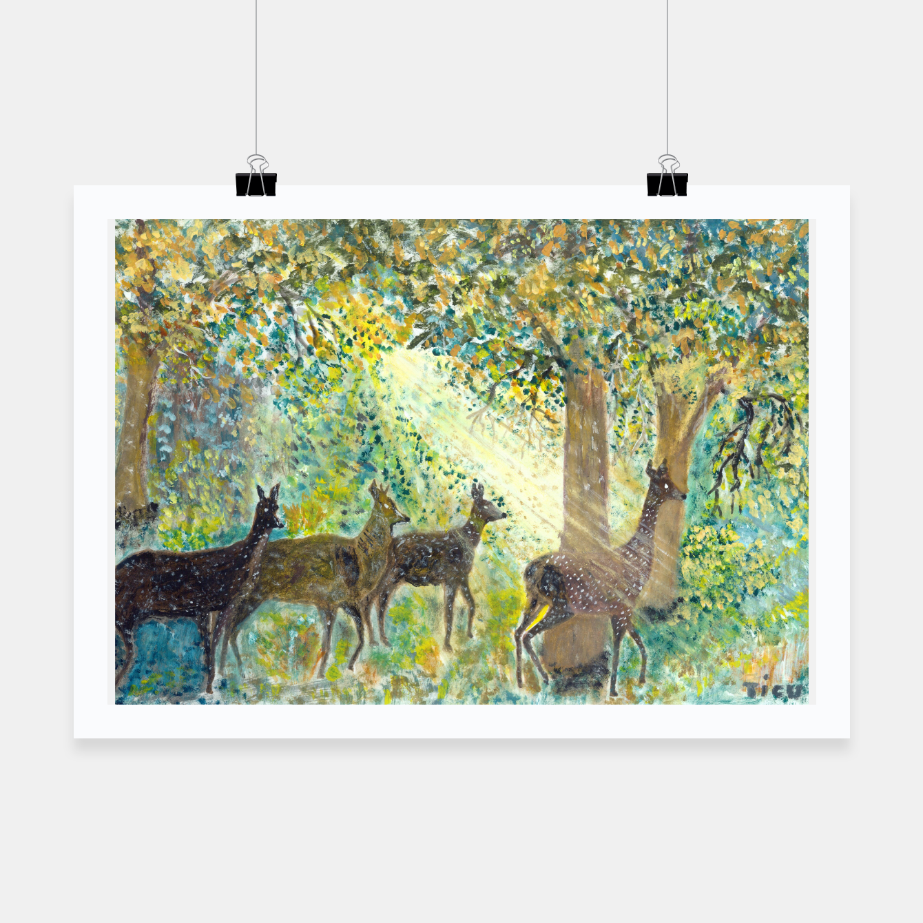 Image of Adorable deers Poster - Live Heroes