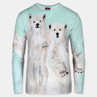 Thumbnail image of Polar bears Unisex sweater, Live Heroes