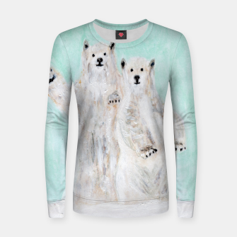 Thumbnail image of Polar bears Women sweater, Live Heroes