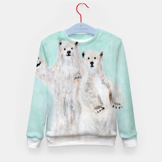 Thumbnail image of Polar bears Kid's sweater, Live Heroes