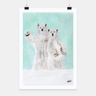 Thumbnail image of Polar bears Poster, Live Heroes