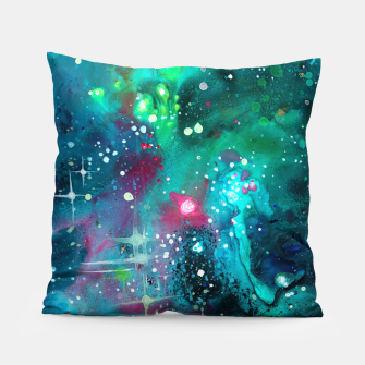 Thumbnail image of Emerald Nebulae Pillow, Live Heroes