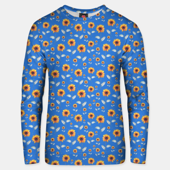 Thumbnail image of Sunflowers-Blue Unisex sweater, Live Heroes