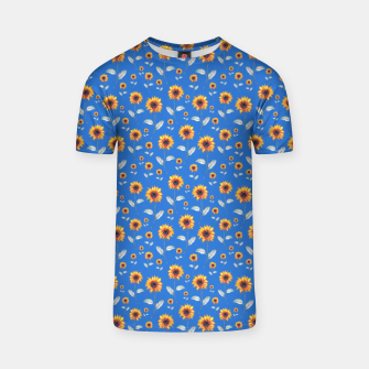 Thumbnail image of Sunflowers-Blue T-shirt, Live Heroes