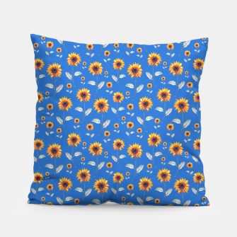 Thumbnail image of Sunflowers-Blue Pillow, Live Heroes