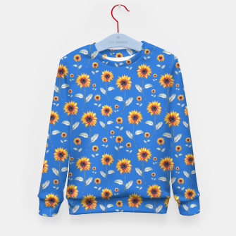 Thumbnail image of Sunflowers-Blue Kid's sweater, Live Heroes