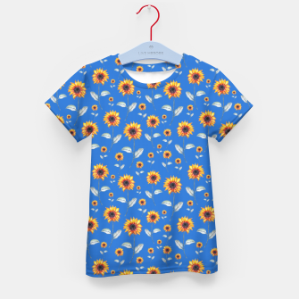 Thumbnail image of Sunflowers-Blue Kid's t-shirt, Live Heroes