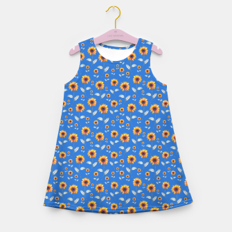 Thumbnail image of Sunflowers-Blue Girl's summer dress, Live Heroes