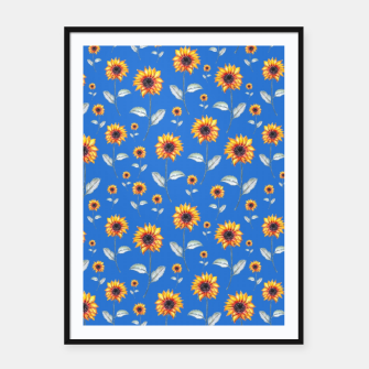Thumbnail image of Sunflowers-Blue Framed poster, Live Heroes