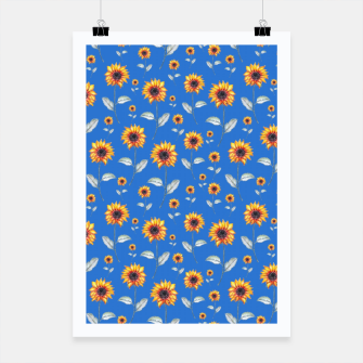 Thumbnail image of Sunflowers-Blue Poster, Live Heroes