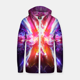 Thumbnail image of Weird Energy Zip up hoodie, Live Heroes