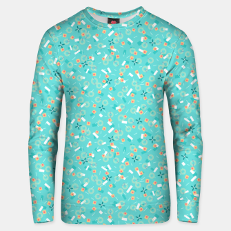 Miniatur Candy Camouflage in Aquamarine Unisex sweater, Live Heroes