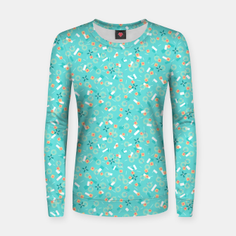 Miniatur Candy Camouflage in Aquamarine Women sweater, Live Heroes
