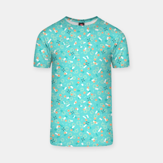 Miniatur Candy Camouflage in Aquamarine T-shirt, Live Heroes