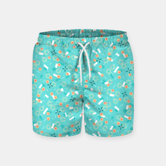Miniatur Candy Camouflage in Aquamarine Swim Shorts, Live Heroes