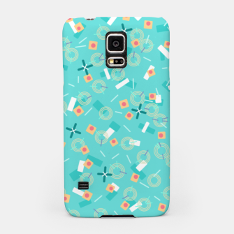 Miniatur Candy Camouflage in Aquamarine Samsung Case, Live Heroes