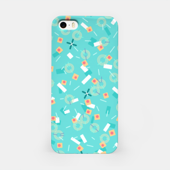 Miniatur Candy Camouflage in Aquamarine iPhone Case, Live Heroes