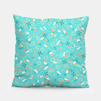 Miniatur Candy Camouflage in Aquamarine Pillow, Live Heroes
