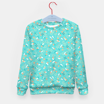 Miniatur Candy Camouflage in Aquamarine Kid's sweater, Live Heroes