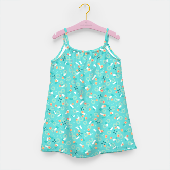 Miniatur Candy Camouflage in Aquamarine Girl's dress, Live Heroes