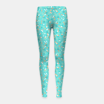 Miniatur Candy Camouflage in Aquamarine Girl's leggings, Live Heroes