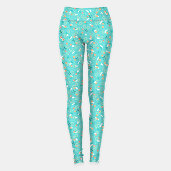 Miniatur Candy Camouflage in Aquamarine Leggings, Live Heroes