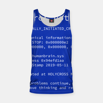 Thumbnail image of Blue Screen of Death Tank Top, Live Heroes