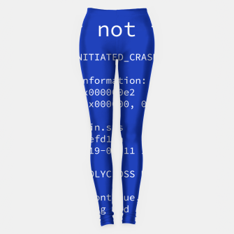 Thumbnail image of Blue Screen of Death Legginsy, Live Heroes