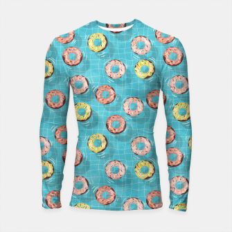 Imagen en miniatura de Chocolate Donut floats in the Summer Pool Longsleeve rashguard , Live Heroes