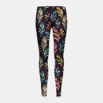 Thumbnail image of Dark Feathers Girl's leggings, Live Heroes