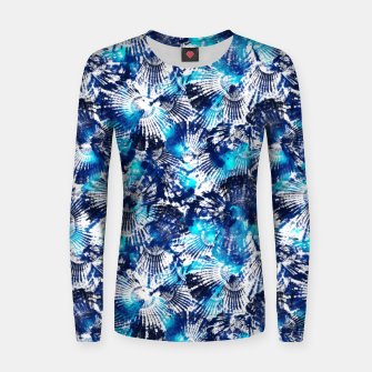 Thumbnail image of Spider Seashell Shibori Women sweater, Live Heroes