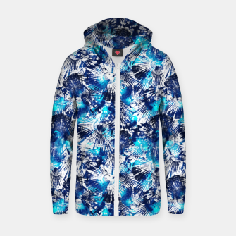 Thumbnail image of Spider Seashell Shibori Zip up hoodie, Live Heroes