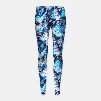 Thumbnail image of Spider Seashell Shibori Girl's leggings, Live Heroes