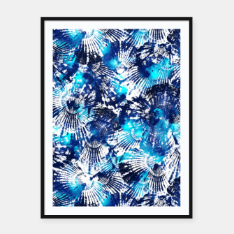 Thumbnail image of Spider Seashell Shibori Framed poster, Live Heroes